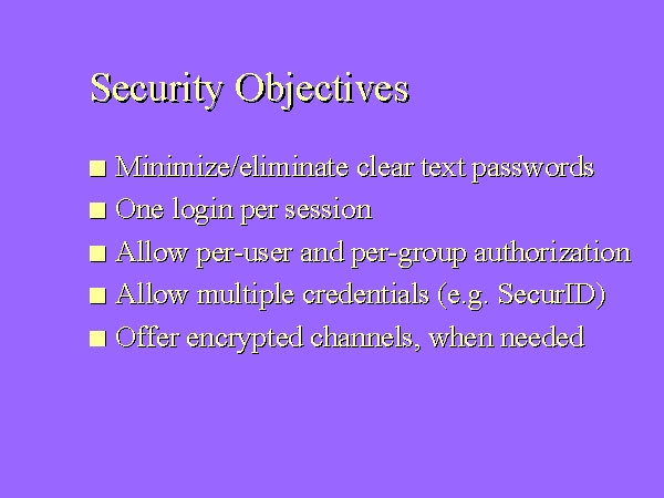 security objective