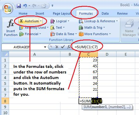 formula to calculate sum in excel 2007 excel sum formula