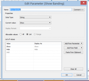 banding parameter