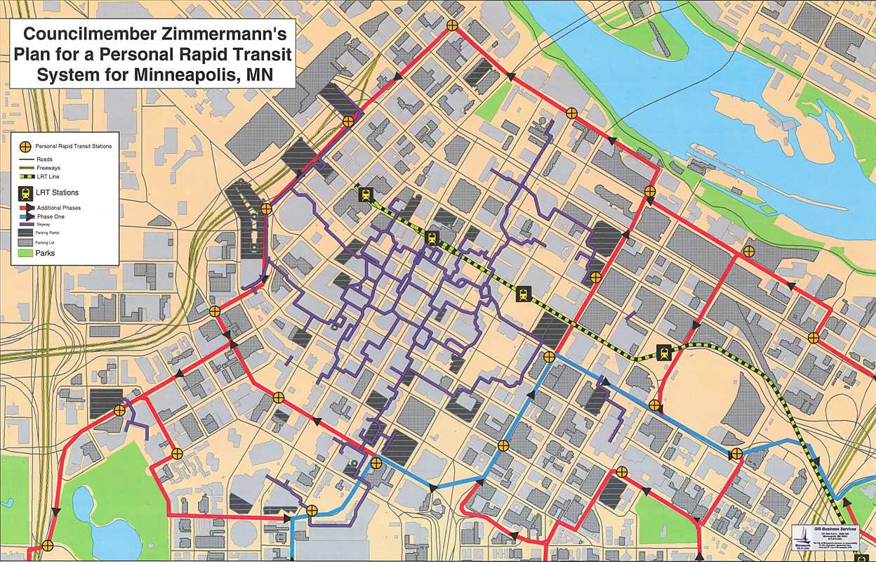 Downtown Minneapolis Personal Rapid Transit Network Concept